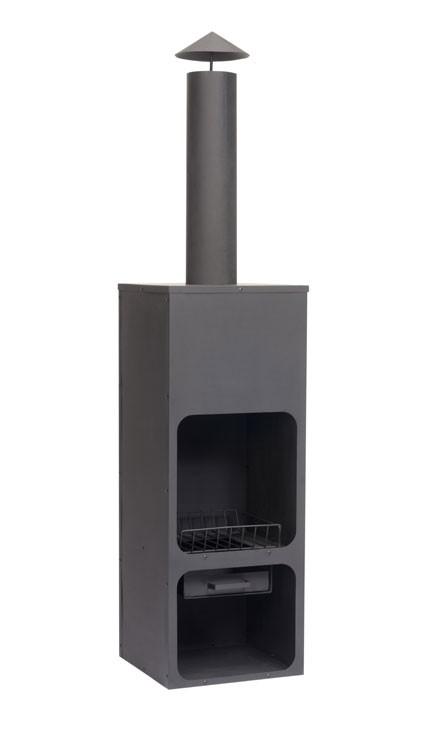SenS-Line Tuinhaard Hotpot, afm. 45 x 45 cm, hoogte 199, zwart gepoedercoat metaal
