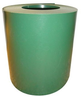 Gietrand Budget, dikte 3 mm, breedte 30 cm, 20 m per rol, materiaal LDPE, groen