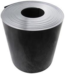 Gietrand, dikte 2 mm, breedte 30 cm, 25 m per rol, materiaal HDPE, zwart