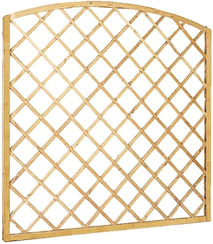 Toogtrellisscherm diagonaal, afm. 180 x 163/180 cm, geïmpregneerd vuren