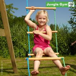 Jungle Gym touwladder, houten treden