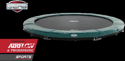BERG inground trampoline Elite, diam. 430 cm. - geen veiligheidsnet - grijs