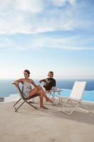 Cane-line Traveller vouwbare lounge stoel - brown-2