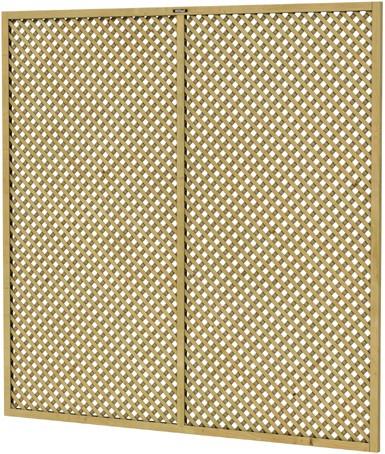 Hillhout trellisscherm Jasmijn, afm. 180 x 180 cm, geïmpregneerd vuren