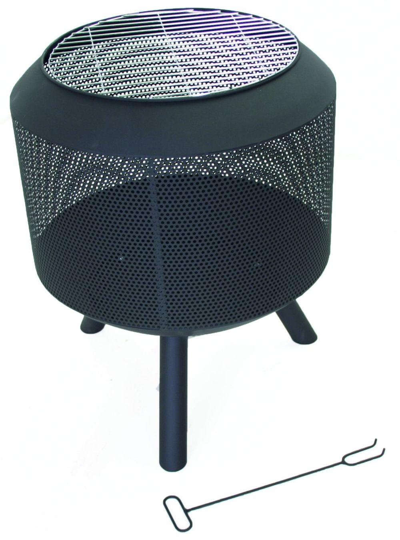 SenS-Line Tuinhaard Trommelpot, diam. 54,5cm, hoogte 60 cm, zwart gepoedercoat metaal