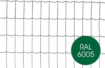 Tuingaas, hoogte  80 cm, maaswijdte 5 x 10 cm, groen geplastificeerd, rol 25 m.