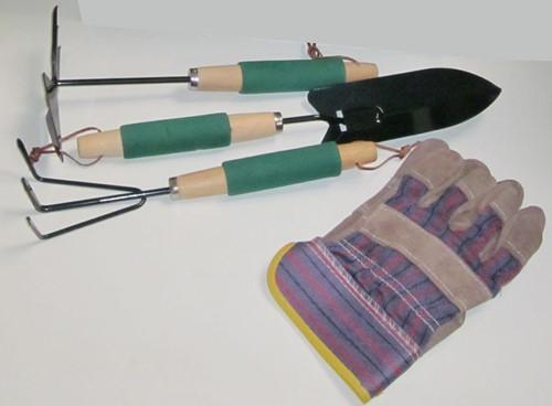 Set tuingereedchap, inclusief handschoenen