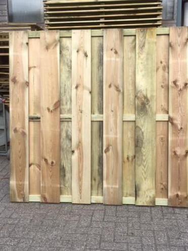 Tuinscherm, 11-planks, afm. 180 x 180 cm, geïmpregneerd grenen,  ACTIE