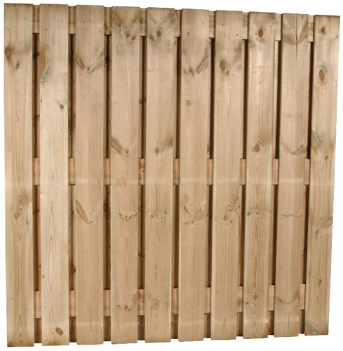 hout/betonschutting 10x10, 22-planks tuinscherm, antraciet stampbeton, per 0,95 m-3