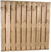 hout/betonschutting 10x10, 22-planks scherm, 2 enkelzijdige motiefplaten, lichtgewicht beton wit, per 0,95 meter-3