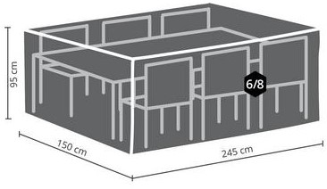 Distri-Cover beschermhoes tuinset, afm. 245 x 150 x 95 cm-2