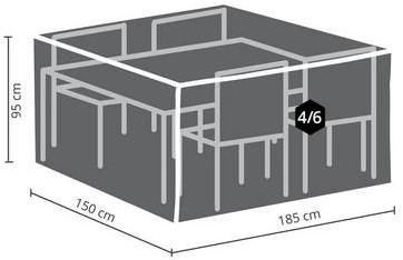 Distri-Cover beschermhoes tuinset, afm. 185 x 150 x 95 cm-2