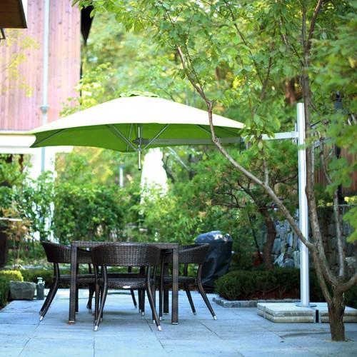 Umbrosa Paraflex parasol, hexagonaal, 270 cm, Premium Stonegrey