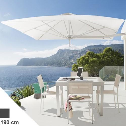 Umbrosa Paraflex parasol, vierkant, 190 x 190 cm - Canvas (Solidum)