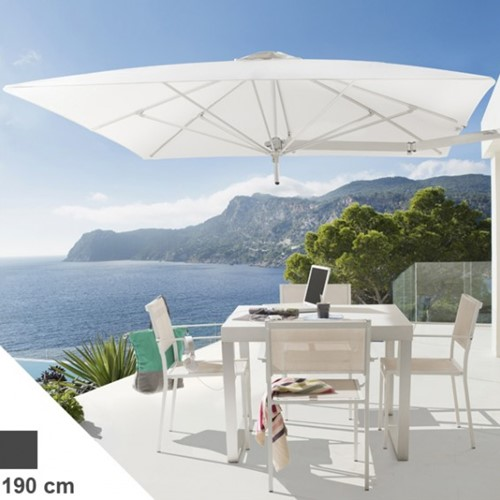 Umbrosa Paraflex parasol, vierkant, 190 x 190 cm - Marble (Sunbrella)