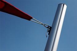 Umbrosa karabijnhaak, afm. 6 x 60 mm, rvs