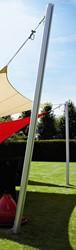 Umbrosa Ingenua paal, lengte 260 cm, geanodiseerd aluminium.