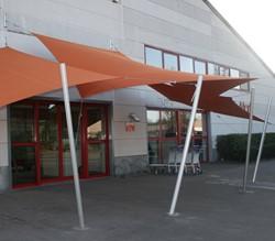 Umbrosa Ingenua schaduwzeil, vijfhoek, afm. 5 zijden van 3,5 m, Limited Edition doek