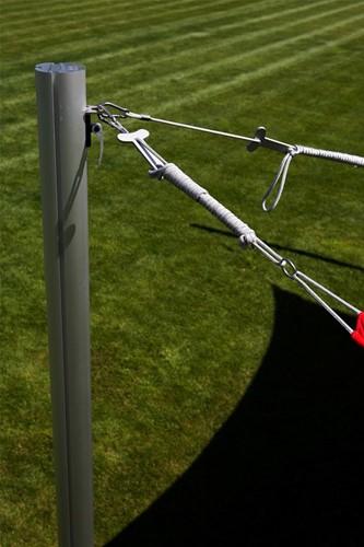 Umbrosa touw, lengte 2 m, met karabijnhaak en dog bone spanner