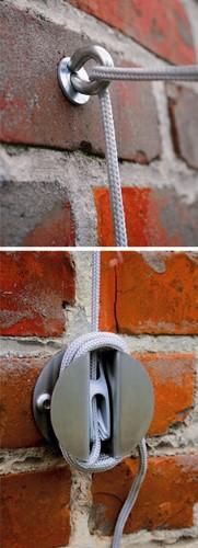 Umbrosa muurkit voor bevestiging van schaduwdoek aan muur