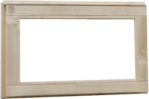 Vast raam, buitenmaat 72 x 45 cm, vurenhout