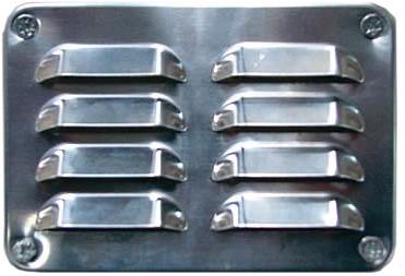 Ventilatierooster voor ventileren van de blokhut, set 2 stuks, aluminium