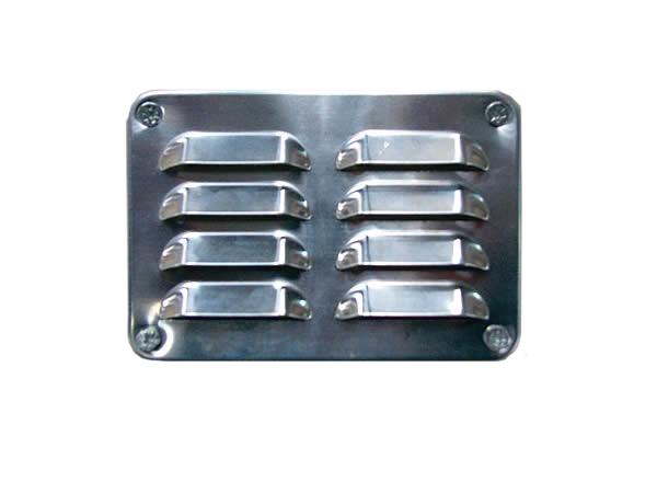 Kühlkamp Ventilatierooster voor ventileren van de blokhut, set 2 stuks, aluminium