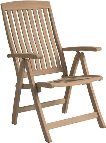 Tuinset Kreta: 4 Venus stoelen, tafel afm. 170 x 90 cm yellow balau hout  -1