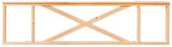 Veranda hekwerk, afm. 278 x 70 cm, douglas hout