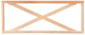 Veranda hekwerk, afm. 228 x 70 cm, blank douglas
