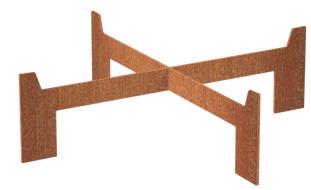 Burni verwarming Voet voor Burni Borc vuurschaal 90 cm, 3 mm cortenstaal