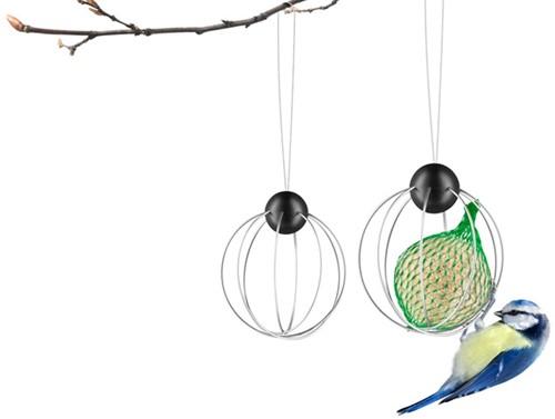 Eva Solo vogelvoederbol voor vetbol, diam. 8 cm, rvs, set 2 stuks