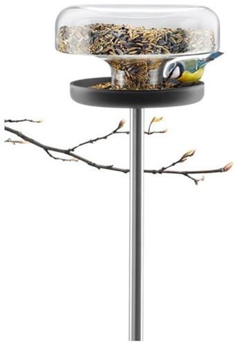 Eva Solo vogelvoedertafel, diam. 21,5 cm, hoogte 121 cm, glas