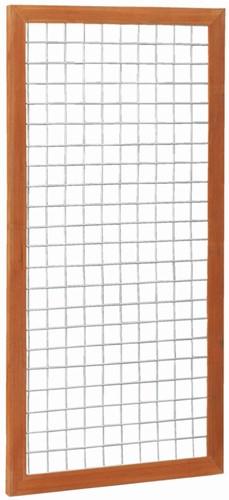 gaaspaneel, afm.  90 x 180 cm, hardhout