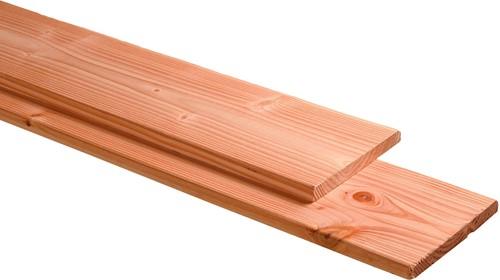 douglas plank, ruw/glad, 1 zijde geschaafd, 1 zijde fijnbezaagd, afm.  2,8 x 24,5 cm, lengte 400 cm
