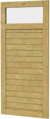 Hillhout wandelement Basic Excellent met klein raam, afm. 101 x 218 cm, geïmpregneerd vuren