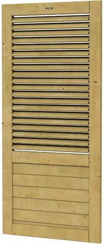 Hillhout wandelement Basic Excellent met shutter, afm.101 x 218 cm, geïmpregneerd vuren