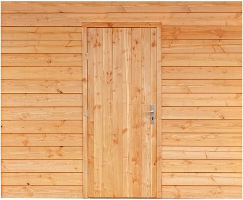 Douglasvision Wand B met enkele deur, enkelzijdig Zweeds rabat, afm. 228,5 x 234 cm, douglas hout-2