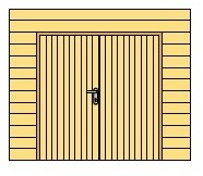 Woodvision Wand B halfhouts rabat enkelzijdig t.b.v. dubbele deur, afm. 228,5 x 232 cm, douglas hout-3