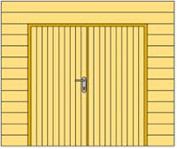 Douglasvision Wand C met dubbele deur, enkelzijdig Zweeds rabat, afm. 278,5 x 232 cm, douglas hout-2