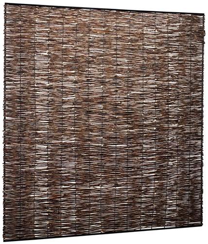 wilgentenen vlechtmat in metaalframe, afm. 180 x 180 cm