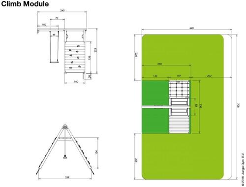 Houtpakket voor Jungle Gym Climb Module (X'tra), niet op maat gezaagd-3