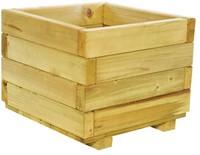 Woodvision houten bloembak, afm.  40 x 40 x 32 cm, geimpregneerd vuren