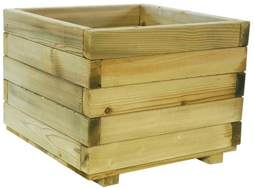 Woodvision houten bloembak, afm.  50 x 50 x 39 cm, geimpregneerd vuren