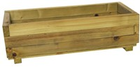 Woodvision houten bloembak, afm.  82 x 34 x 25 cm, geimpregneerd vuren
