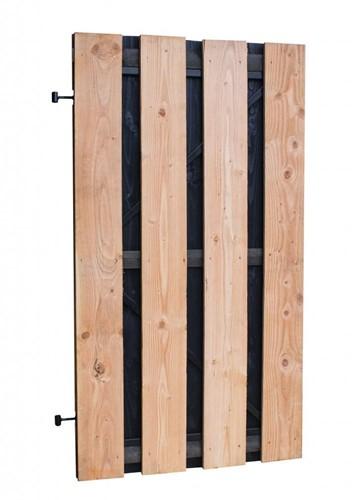 Douglas plankendeur, afm 100 x 180 cm, fijnbezaagd met zwart gecoate binnenzijde