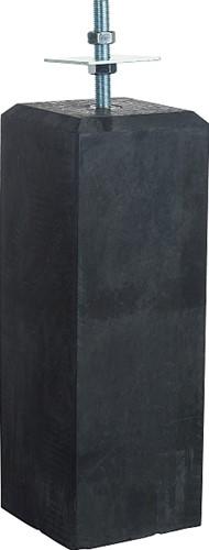 betonvoet 18/15x50 cm + stelplaat, antraciet