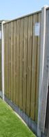 hout/betonschutting 10x10, 24-planks tuinscherm, lichtgewicht beton antraciet, per 0,95 m-2