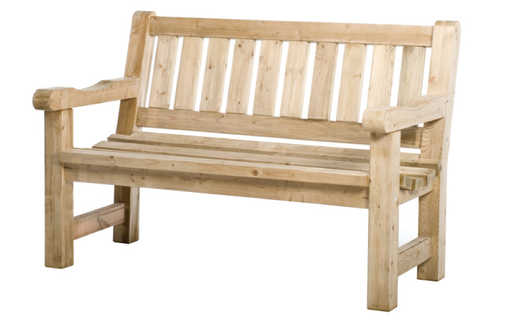 Woodvision tuinhout Tuinbank Hugo, afm. 140 x 74 x 96 cm, houtdikte 40 mm